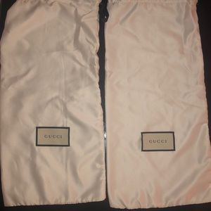 Gucci dust bags - 2 flat shoe size
